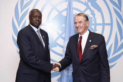 Deputy Secretary-General Meets Foreign Minister of South Sudan
