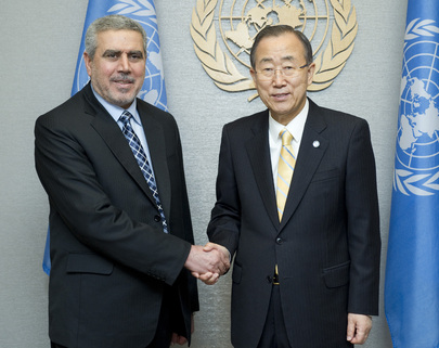 Secretary-General Meets Vice-President of Iraq