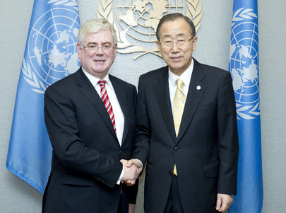 Secretary-General Meets Foreign Minister of Ireland