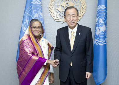 Secretary-General Meets Prime Minister of Bangladesh