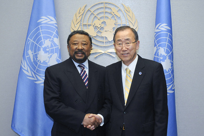 Secretary-General Meets Outgoing Chairperson of African Union Commission