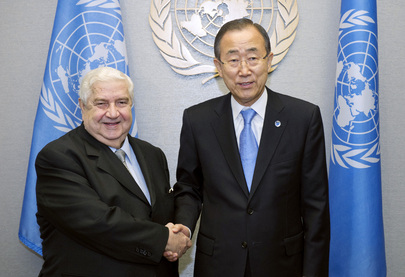 Secretary-General Meets Foreign Minister of Syria
