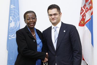 Assembly President Meets Foreign Minister of Rwanda