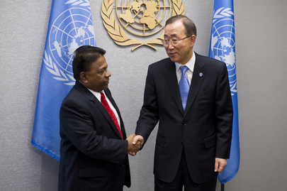 Secretary-General Meets Youth Affairs Minister of Sri Lanka
