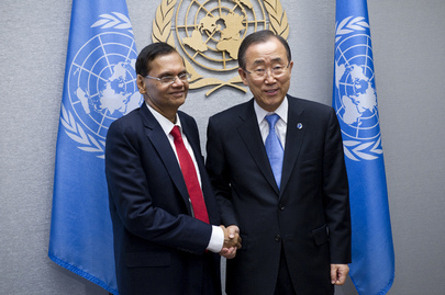 Secretary-General Meets Foreign Minister of Sri Lanka