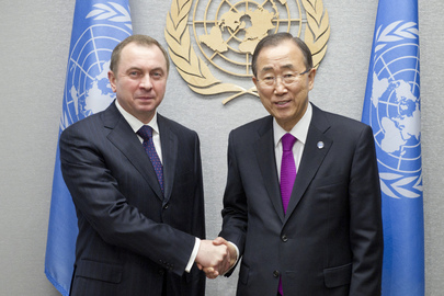 Secretary-General Meets Foreign Minister of Belarus