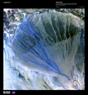 "Satellite Image from NASA: ""Alluvial Fan"""
