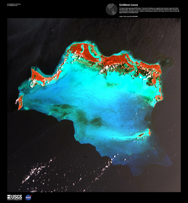 "Satellite Image from NASA: ""Caribbean Luxury"""