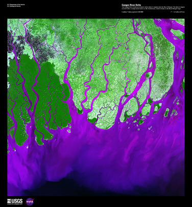 "Satellite Image from NASA: ""Ganges River Delta"""