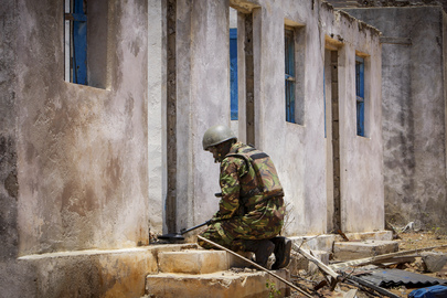 A.U. Troops in Kismayo, South Somalia