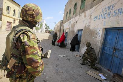 A.U. Troops in Kismayo, South Somalia