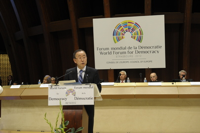 Secretary-General Addresses World Democracy Forum