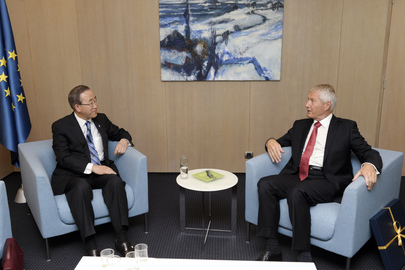 Secretary-General Meets Council of Europe Head in Strasbourg