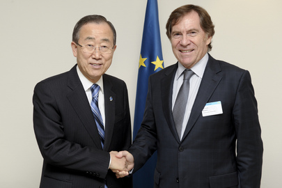 Secretary-General Meets Head of Council of Europe Parliament