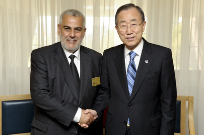Secretary-General Meets Prime Minister of Morocco in Strasbourg