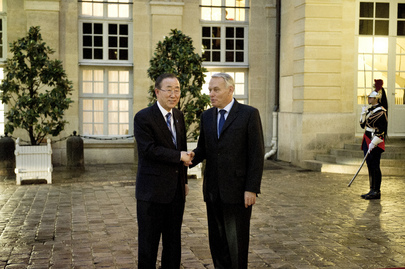 Secretary-General Meets Prime Minister of France