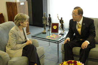 Secretary-General Meets UNESCO Chief in Paris