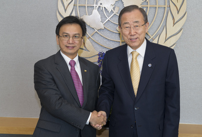Secretary-General Meets Permanent Representative of Brunei Darussalam