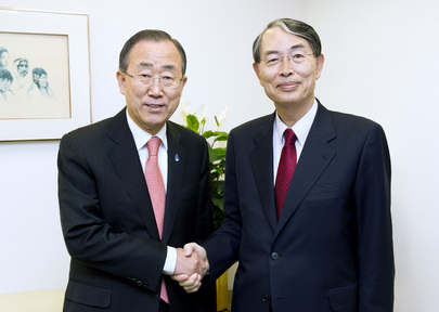 Secretary-General Meets President of International Criminal Court
