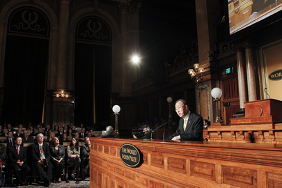 Secretary-General Addresses World Food Prize Award Ceremony in Iowa