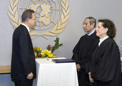 Secretary-General Swears in UN Appeals Tribunal Judges