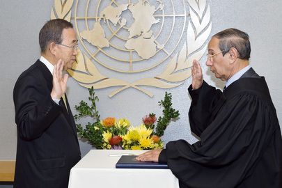 Secretary-General Swears in Judges of UN Appeals Tribunal