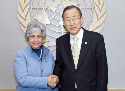 Secretary-General Meets UN Volunteers Executive Coordinator