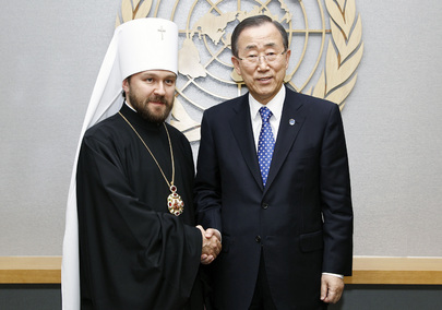 Secretary-General Meets Head of External Church Relations of Moscow Patriarchate