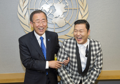 Secretary-General Meets Korean Singer, Psy
