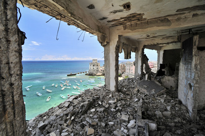 Ruins of Al-Uruba Hotel, Mogadishu