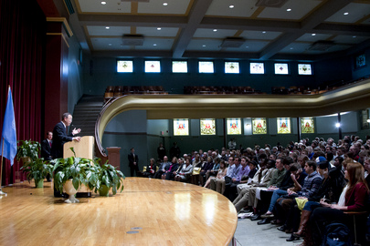 Secretary-General Delivers Speech at Drake University, Iowa
