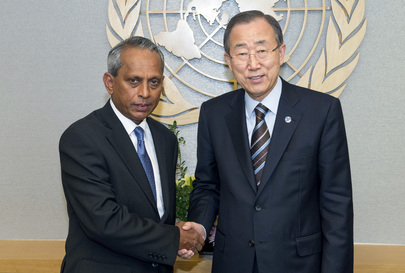 Secretary-General Meets Chair of Disarmament Advisory Board