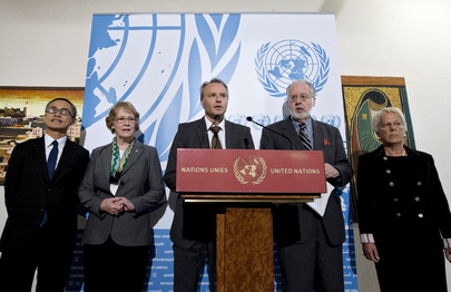 Members of Commission of Inquiry on Syria Brief Media