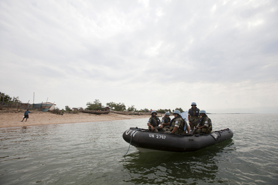 UN Peacekeepers Guard against Piracy on Lake in DR Congo