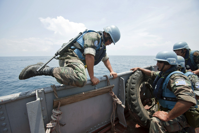 UN Peacekeepers Guard against Piracy on DRC Lake