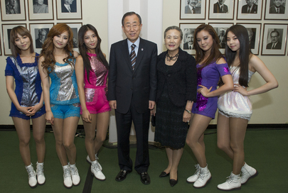 Secretary-General Meets Wonder Girls