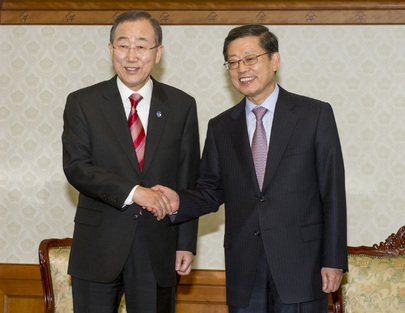 Secretary-General Meets Prime Minister of Republic of Korea