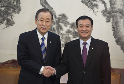 Secretary-General Meets Speaker of Republic of Korea's National Assembly