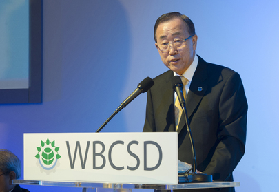 Secretary-General Attends Meeting of World Business Council for Sustainable Development