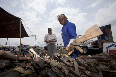 Weapons Seized from Rebels in DR Congo