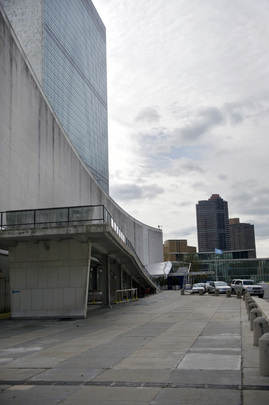 Damage at UNHQ after Hurricane Sandy