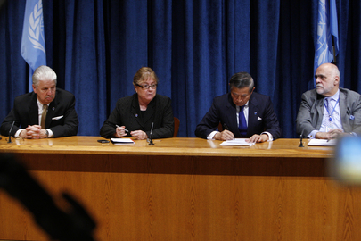 UN Officials Brief on Impact of Hurricane Sandy