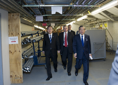 Secretary-General Visits UN Headquarters Sites to Assess Hurricane Sandy's Effects