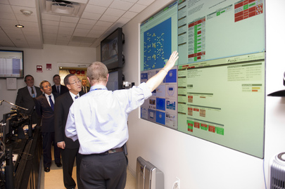 Secretary-General Tours Headquarters after Hurricane Sandy