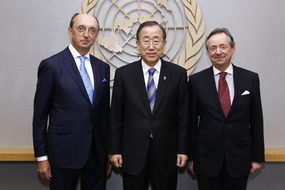 Secretary-General Meets President and Registrar of International Court of Justice