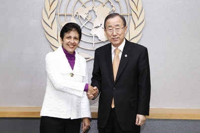 Secretary-General Meets Permanent Representative of Seychelles