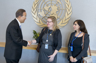 Secretary-General Meets Staff Members Affected by Hurricane Sandy
