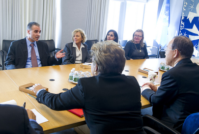 Secretary-General Meets UN Staff Affected by Hurricane Sandy