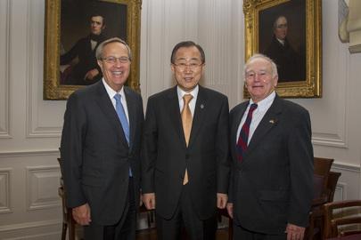 Secretary-General Visits Yale University