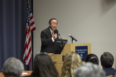Secretary-General Delivers Lecture at Yale